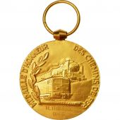 France, Railway, Medal, 1963, Excellent Quality, Médaille dHonneur