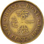 Hong Kong, George VI, 10 Cents, 1950, AU(50-53), Nickel-brass, KM:25
