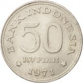 Indonésie, 50 Rupiah, 1971, SUP, Copper-nickel, KM:35
