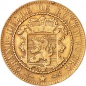 Luxembourg, William III, 10 Centimes, 1870, Utrecht, TTB+, Bronze, KM:23.1