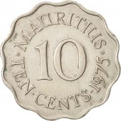Mauritius, Elizabeth II, 10 Cents, 1975, AU(50-53), Copper-nickel, KM:33