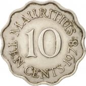 Mauritius, Elizabeth II, 10 Cents, 1978, EF(40-45), Copper-nickel, KM:33