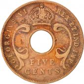 EAST AFRICA, George VI, 5 Cents, 1937, VF(30-35), Bronze, KM:25.1