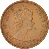 East Caribbean States, Elizabeth II, 2 Cents, 1965, VF(30-35), Bronze, KM:3
