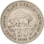 EAST AFRICA, George VI, 50 Cents, 1948, TTB+, Copper-nickel, KM:30
