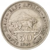 EAST AFRICA, George VI, 50 Cents, 1949, AU(50-53), Copper-nickel, KM:30