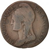 France, Dupré, 5 Centimes, 1795, Paris, B+, Bronze, KM:635.1, Gadoury:124