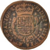 Spanish Netherlands, Token, Philippe IV, Brabant, 1656, EF(40-45), Copper, 32