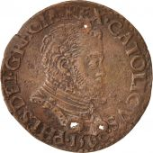 Belgium, Token, Philippe II, Bureau des Finances, 1560, AU(50-53), Copper, 28