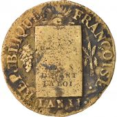 France, Sol, 1793, Arras, TB, Bronze, Gadoury:19