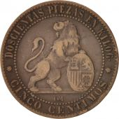 Espagne, Provisional Government, 5 Centimos, 1870, TB, Cuivre, KM:662