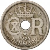 Danemark, Christian X, 10 Öre, 1924, Copenhagen, TTB, Copper-nickel, KM:822.1
