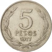 Chile, 5 Pesos, 1977, TTB, Copper-nickel, KM:209