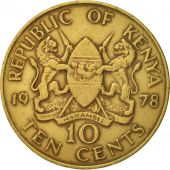 Kenya, 10 Cents, 1978, EF(40-45), Nickel-brass, KM:11
