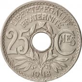 France, Lindauer, 25 Centimes, 1918, TTB, Copper-nickel, KM:867a, Gadoury:380