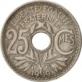France, Lindauer, 25 Centimes, 1919, TB+, Copper-nickel, KM:867a, Gadoury:380