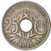France, Lindauer, 25 Centimes, 1920, TB+, Copper-nickel, KM:867a, Gadoury:380