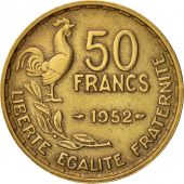 France, Guiraud, 50 Francs, 1952, Paris, TTB, Aluminum-Bronze, KM:918.1