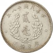 Chine, KWANGTUNG PROVINCE, 20 Cents, 1929, SPL, Argent, KM:426