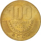 Costa Rica, 100 Colones, 2000, SUP, Brass, KM:240