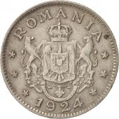 Roumanie, Ferdinand I, Leu, 1924, TTB, Copper-nickel, KM:46