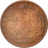 INDIA-BRITISH, 1/4 Anna, 1835, VG(8-10), Copper, KM:446.2