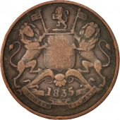 INDIA-BRITISH, 1/2 Anna, 1835, VF(20-25), Copper, KM:447.1