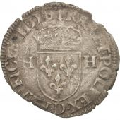 France, Douzain with 2H, 1575, Lyons, TB, Billon, Duplessy:1140