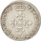 France, Louis XIV, 4 Sols dits « des Traitants », 4 Sols, 1674, Paris
