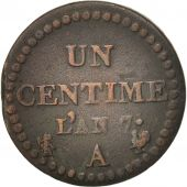 France, Dupré, Centime, 1798, Paris, TB+, Bronze, KM:646, Gadoury:76