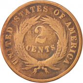 États-Unis, 2 Cents, 1866, U.S. Mint, Philadelphia, B, Copper-Tin-Zinc, KM:94