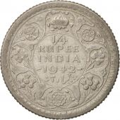INDIA-BRITISH, George VI, 1/4 Rupee, 1942, VF(30-35), Silver, KM:546