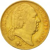 France, Louis XVIII, Louis XVIII, 20 Francs, 1817, Paris, VF(30-35), Gold