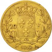 France, Louis XVIII, Louis XVIII, 20 Francs, 1818, Paris, VF(30-35), Gold