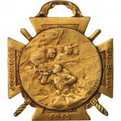 France, Journée du poilu, Medal, 1915, Excellent Quality, Bronze, 29.6