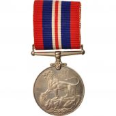 United Kingdom , War Medal 1939-45, Medal, 1939-1945, Très bon état, Nickel