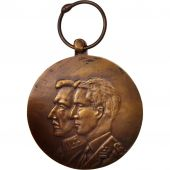 Belgium, 1918 50th anniversary, Medal, 1968, Very Good Quality, Bronze, 35.8