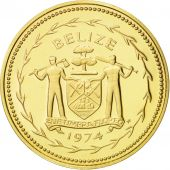 Belize, 5 Cents, 1974, Franklin Mint, FDC, Nickel-brass, KM:39