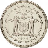 Belize, 50 Cents, 1974, Franklin Mint, FDC, Argent, KM:42a