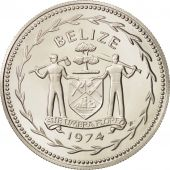 Belize, Dollar, 1974, Franklin Mint, FDC, Argent, KM:43a
