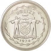 Belize, 5 Dollars, 1974, Franklin Mint, FDC, Argent, KM:44a