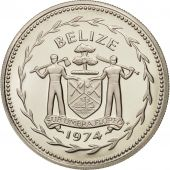 Belize, 10 Dollars, 1974, Franklin Mint, FDC, Argent, KM:45a
