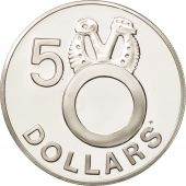 Solomon Islands, 5 Dollars, 1978, MS(65-70), Silver, KM:7