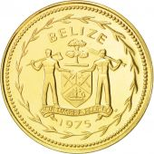 Belize, 5 Cents, 1975, Franklin Mint, FDC, Nickel-brass, KM:47