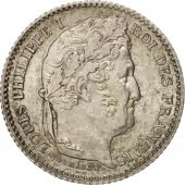 France, Louis-Philippe, 25 Centimes, 1847, Paris, MS(63), Silver, KM:755.1