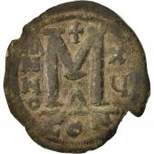 Justinian I 527-565, Follis, 538-542, Constantinople, TB+, Cuivre