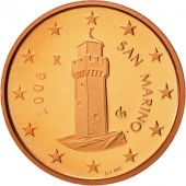 San Marino, Euro Cent, 2008, MS(65-70), Copper Plated Steel, KM:440