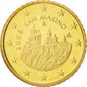 San Marino, 50 Euro Cent, 2008, MS(65-70), Brass, KM:484
