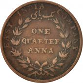 INDIA-BRITISH, 1/4 Anna, 1835, Calcutta, VF(20-25), Copper, KM:446.2