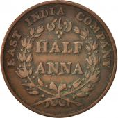 INDIA-BRITISH, 1/2 Anna, 1835, Madras, VF(20-25), Copper, KM:447.1